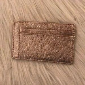 Rose Gold Marcs 7 Slot Credit Card Holder Wallet